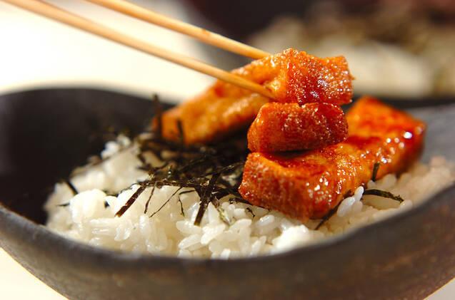 厚揚げの蒲焼き丼の作り方の手順4