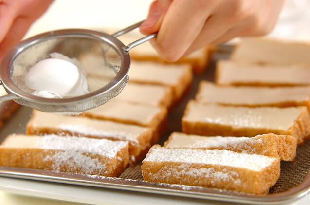 厚揚げの蒲焼き丼の作り方の手順1