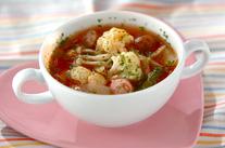 カリフラワーのトマトスープ
