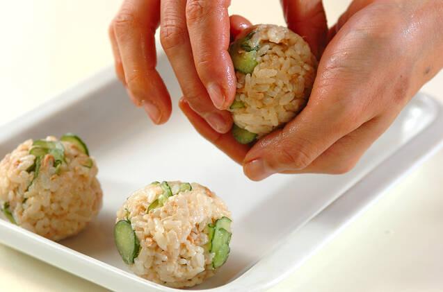 リボンのプレゼント寿司の作り方の手順4
