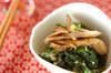 青菜とマイタケのみぞれ和えの作り方の手順