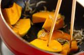 カボチャとジャコのネギ炒め煮の作り方4