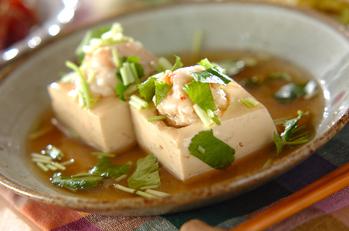 豆腐とエビのあんかけ煮