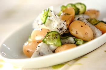 大根と白花豆のサッパリサラダ