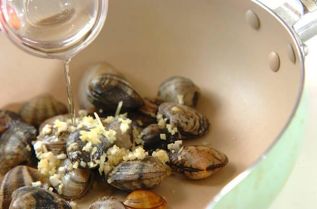 アサリのバター風味ワイン蒸しの作り方の手順2