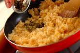 高菜と明太子のチャーハンの作り方3