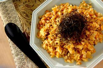 高菜と明太子のチャーハン