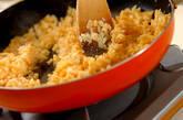 高菜と明太子のチャーハンの作り方2