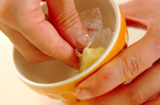 フランのバニラアイスのせの作り方の手順3