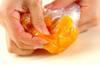 完熟柿ラッシーの作り方の手順1