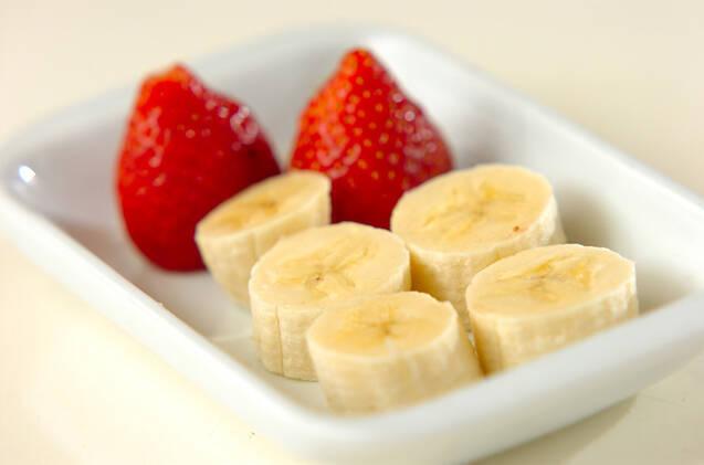 イチゴとバナナのあんこ巻きの作り方の手順2