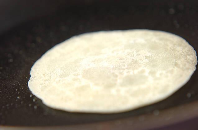 イチゴとバナナのあんこ巻きの作り方の手順5