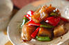 コンニャクとピーマンの炒め物の作り方の手順