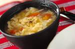 トマトとベーコンのふんわり卵スープ