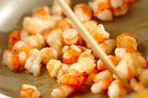 レタスとエビのオイスター炒めの作り方2