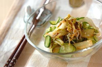 炒め白菜の甘酢和え