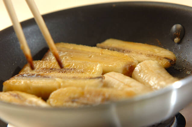 焼きバナナのチョコレートソースがけの作り方の手順2