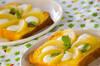 桃のフレンチトーストの作り方の手順
