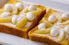 桃のフレンチトーストの作り方の手順3