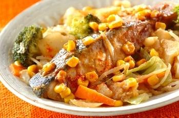 鮭ジャガのチャンチャン焼き風