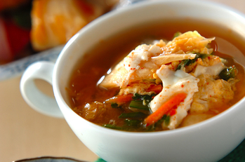 卵のキムチスープ