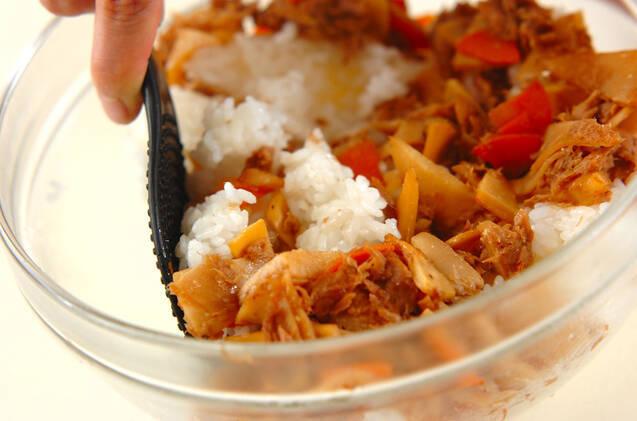 タケノコとツナの混ぜご飯の作り方の手順5