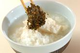 茶がらの佃煮粥の作り方3