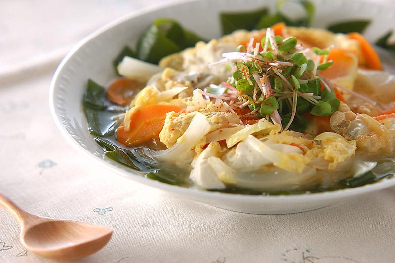 絹ごし豆腐の卵とじ