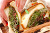 焼き肉サンドの作り方の手順9