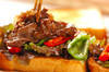 焼き肉サンドの作り方の手順8