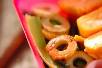 小松菜とちくわの炒め物
