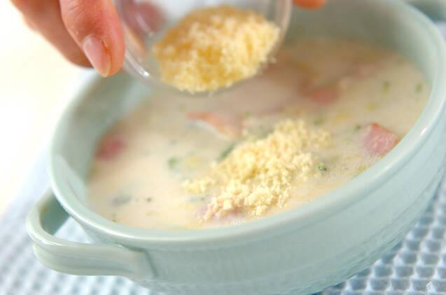 ブロッコリーミルクスープの作り方の手順4