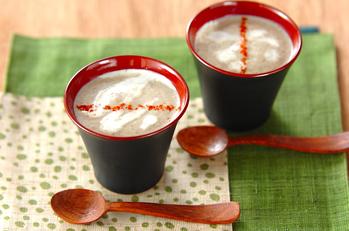 冷凍キノコのポタージュスープ