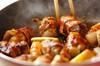手綱コンニャクの豚肉巻きの作り方の手順5