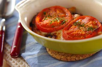 サンマのトマトグラタン