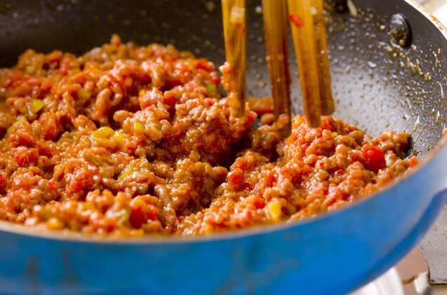 ジューシーそぼろ丼の作り方の手順2