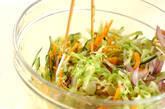 せん切り野菜のコールスローの作り方2