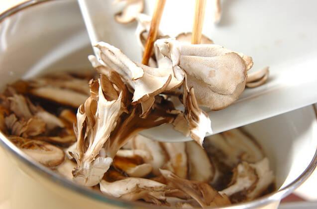 キノコ素麺汁の作り方の手順4