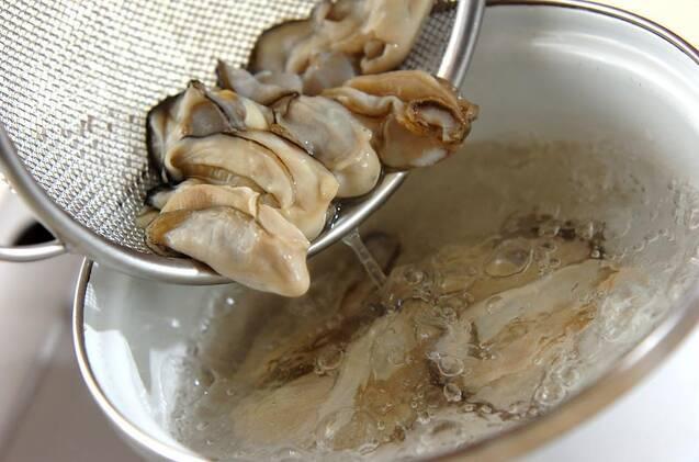 カキのミルクスープの作り方の手順1
