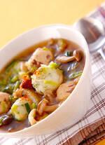 鶏肉・しょうゆ味のスープ