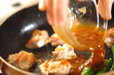 鶏とシシトウの梅照り焼きの作り方3