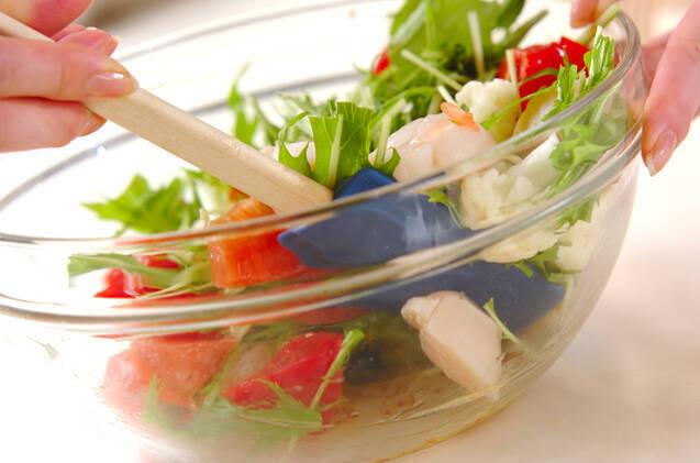 ホタテとグレープフルーツのサラダの作り方の手順3