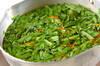 菊菜のピリ辛ゴマ和えの作り方の手順4