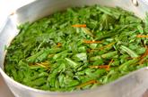 菊菜のピリ辛ゴマ和えの作り方1