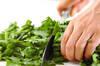 菊菜のピリ辛ゴマ和えの作り方の手順1