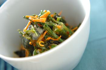 菊菜のピリ辛ゴマ和え