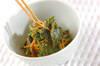 菊菜のピリ辛ゴマ和えの作り方の手順5