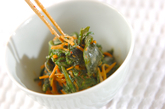 菊菜のピリ辛ゴマ和えの作り方2