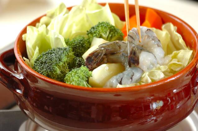 たっぷり野菜とエビホタテのカレーミルク鍋の作り方の手順6