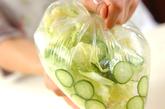 キャベツと油揚げのサラダの作り方1